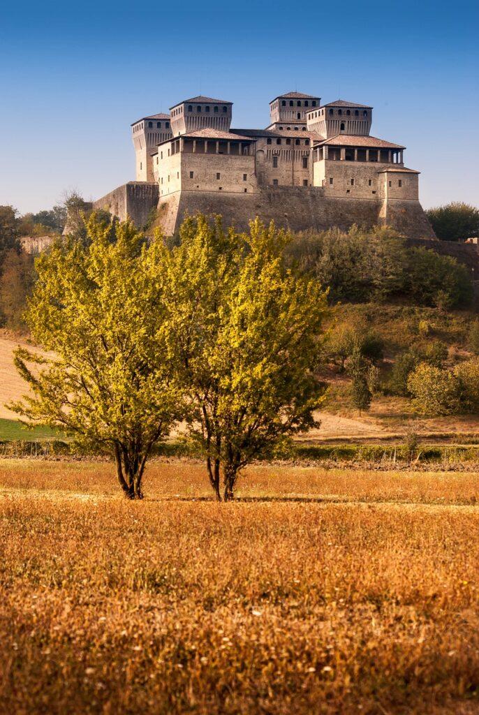 italy, castle, landscape